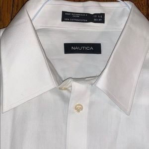 NWT Nautica Dress Shirt Beautiful Cotton